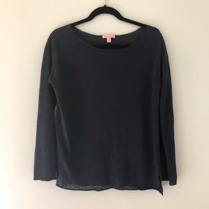 Lily Pulitzer navy knit top